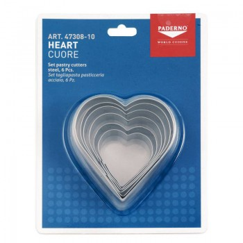 Paderno Heart Shaped Pastry Cutters
