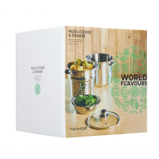 Pasta Cooker and Steamer Set