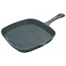 Cast Iron Square Skillet Pan Ribbed