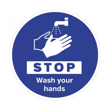 Wall Graphic Stop Wash Hands