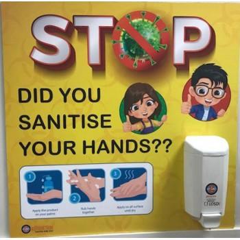Sanitise Sign & Dispenser
