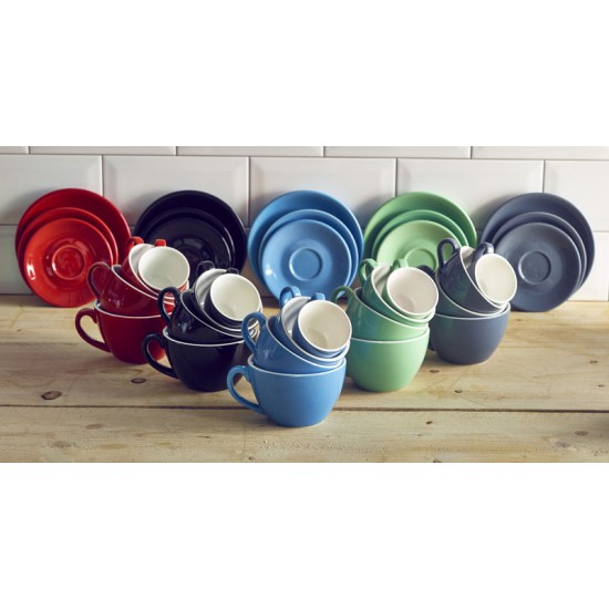 Royal Genware Coloured Bowl Shaped Cups