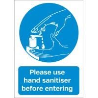 Hygiene Sticker Please use Hand Sanitiser A6