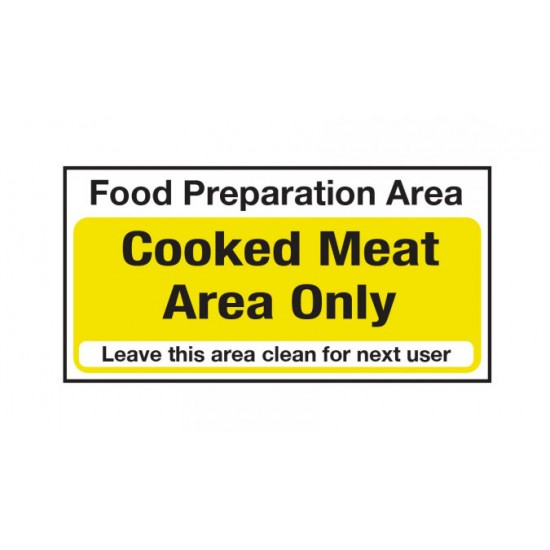 Hygiene Sticker Cooked Meat