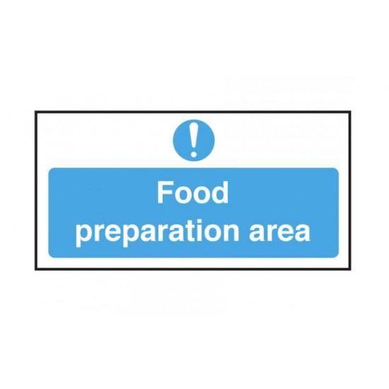 Hygiene Sticker Food Prep Area