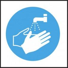 Hygiene Sticker Hand Wash Logo