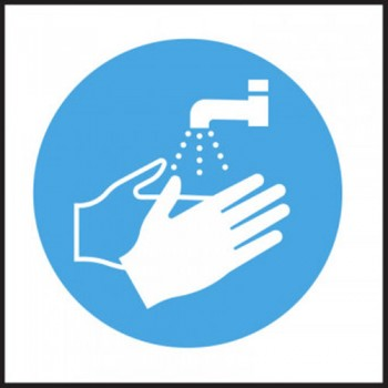 Hygiene Sticker Hand Wash Logo