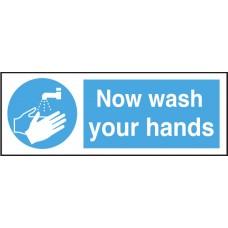 Hygiene Sticker Hand Wash Logo & Text