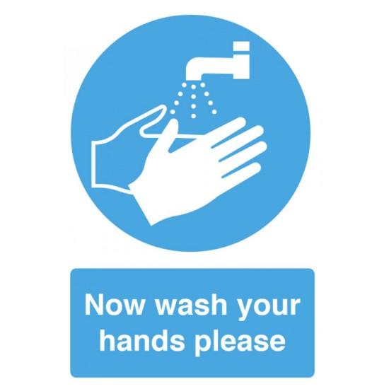 Hygiene Sticker Now wash Your Hands