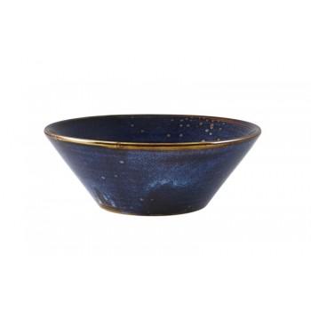 Aqua Blue Terra Porcelain Conical Bowls