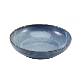 Aqua Blue Terra Porcelain Coupe Bowls
