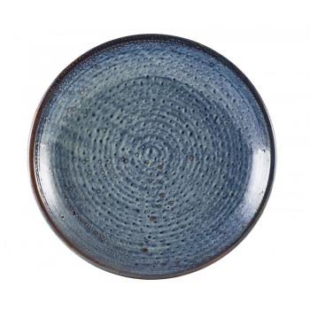 Aqua Blue Terra Porcelain Deep Coupe Plates