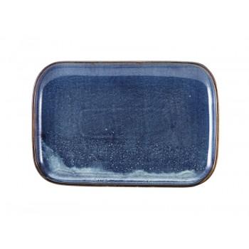 Aqua Blue Terra Porcelain Rectangular Plates