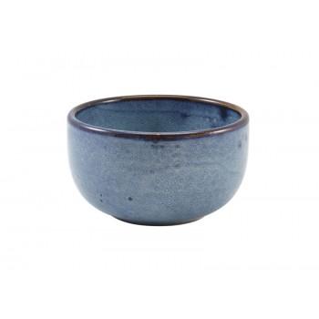 Aqua Blue Terra Porcelain Round Bowls