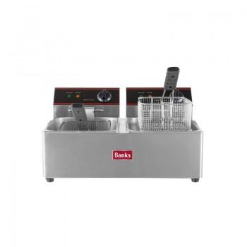 Banks Counter Top Twin Fryer 6lt
