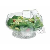 Acrylic Salad Bowl & Servers