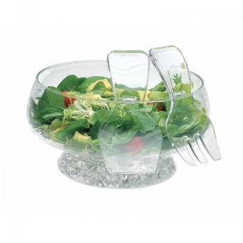 Acrylic Salad Bowl & Servers