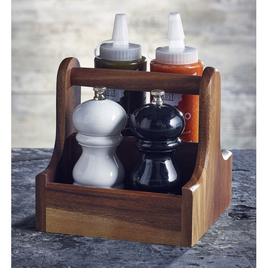 Acacia Wooden Handled Table Caddies