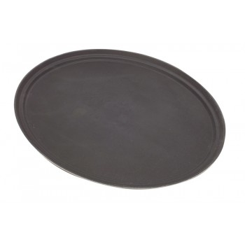 Black Oval Non-Slip Trays