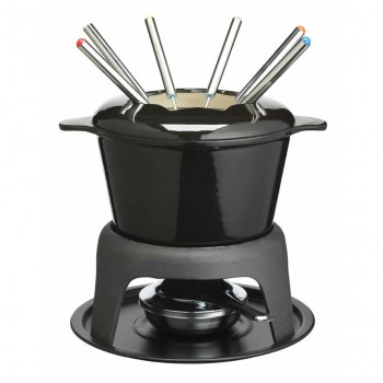 Kitchen Craft Black Fondue Set
