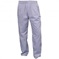 Blue & White Check Baggies Chef Trousers